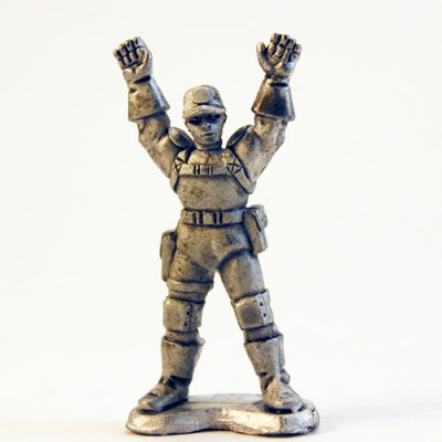 Paramilitary Goon Surrendering - Ballcap head