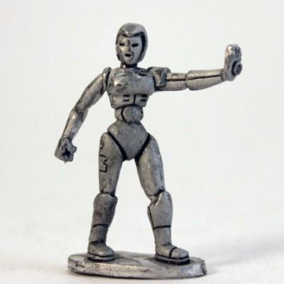 Robo-Girl - Retro head