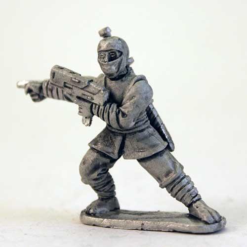 Ninja Boss with Gun - Ninja Cowl head