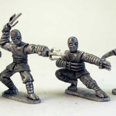 Ninjas with Various Weapons - Bugeyed heads