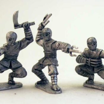 Ninjas with Various Weapons - Ninja Cowl heads